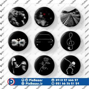 پک پیکسل طرح سیاه و سفید