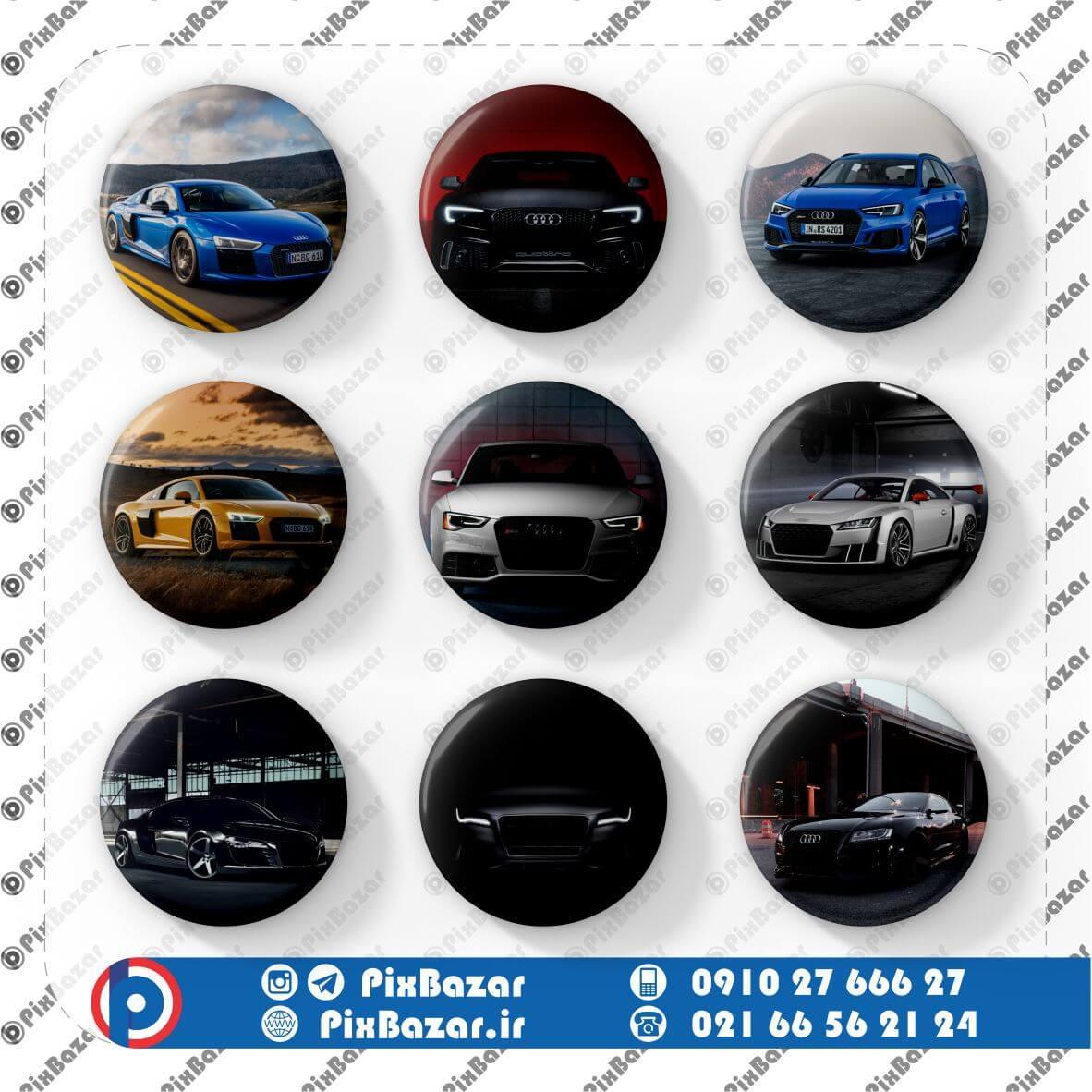 پیکسل طرح ماشین Audi