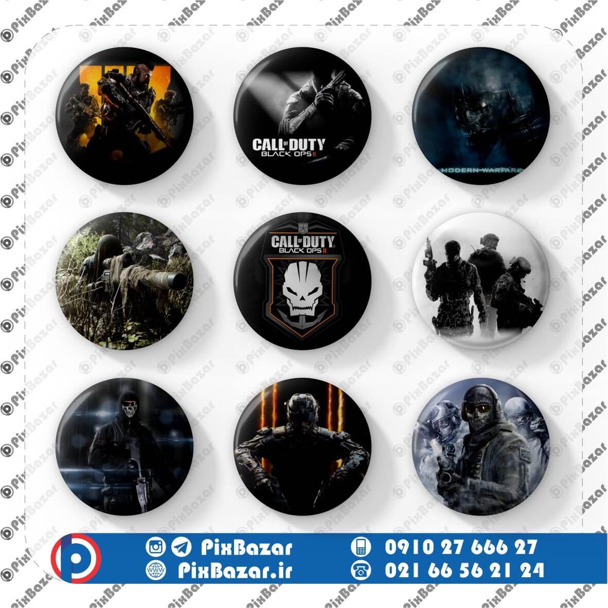 پیکسل طرح Call of Duty