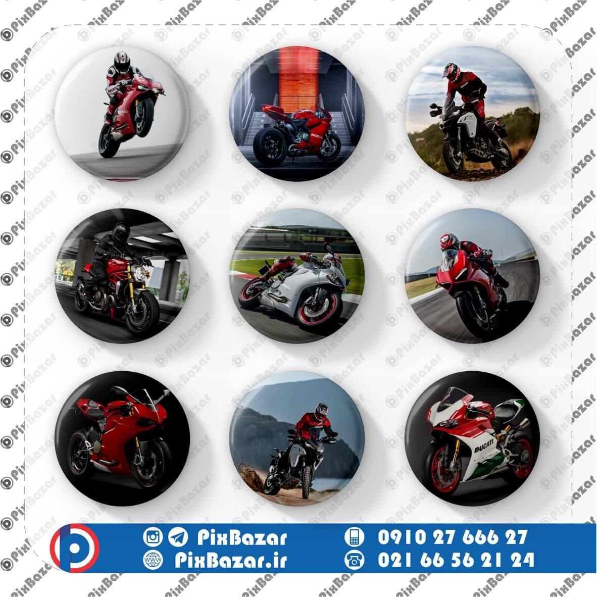 پیکسل طرح موتور Ducati