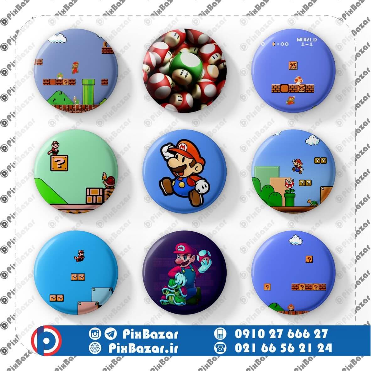 پیکسل طرح Super Mario